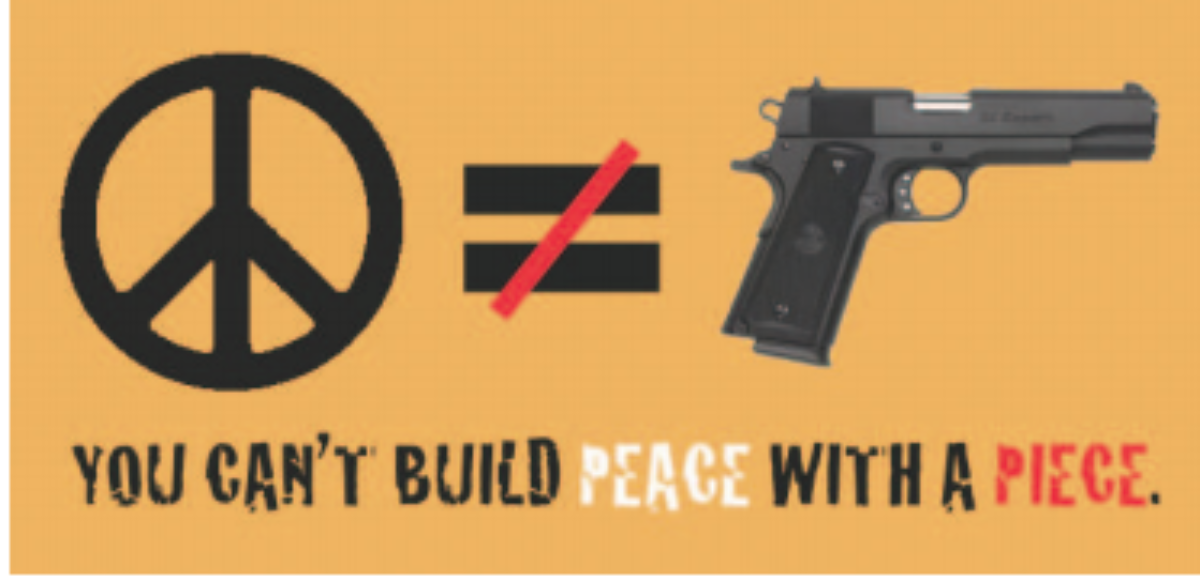 Peace with a piece